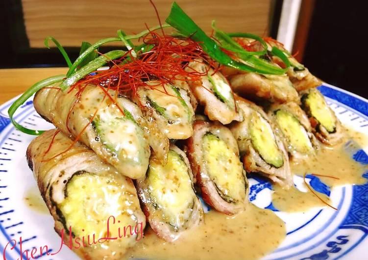 陈秀玲 发表的 秋葵玉米笋肉卷