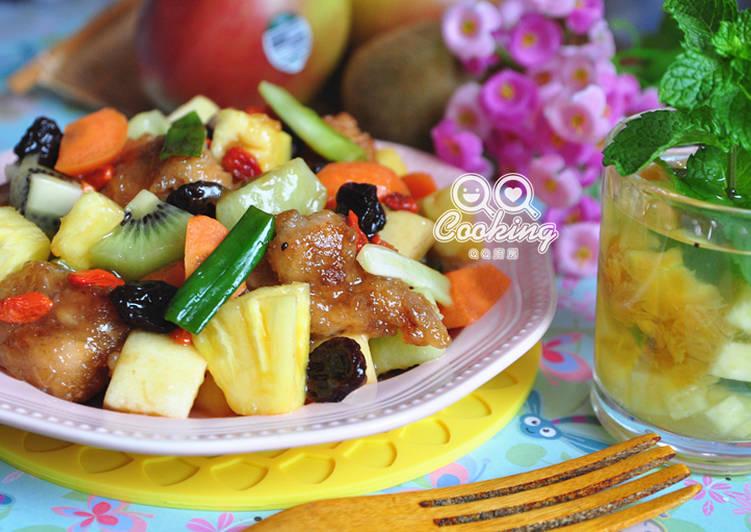 綜合蔬果蜜酥雞