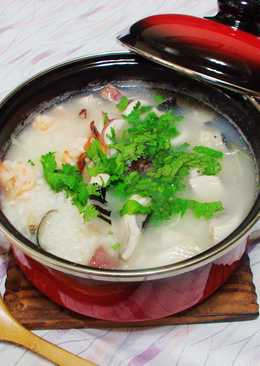 [隔夜飯再利用]~海鮮粥