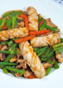 魷魚醬燒韭菜花