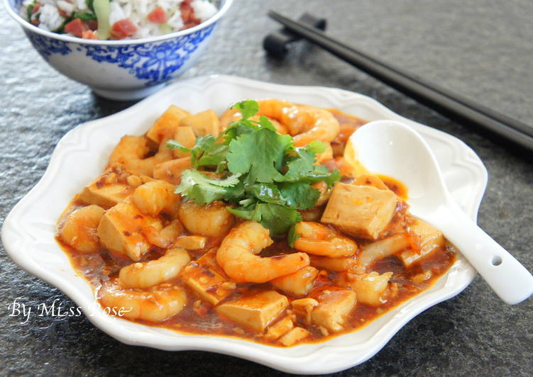 麻婆蝦仁豆腐