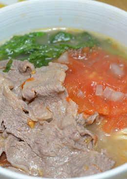 簡易版。番茄牛肉麵