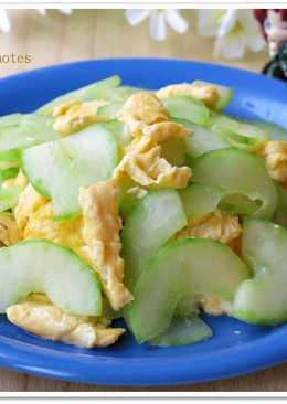 [大黃瓜炒蛋]簡易家常菜