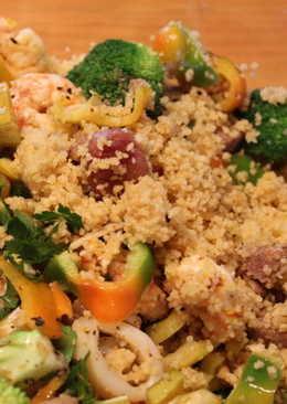 庫司庫司鮮蝦沙拉