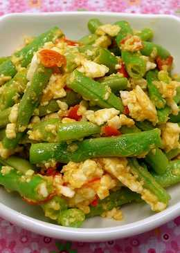 鹹蛋乾煸四季豆 ☆鹹蛋&蔬菜3