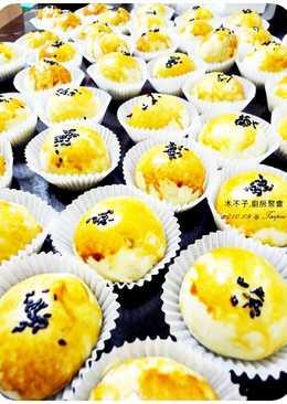 中秋節蛋黃酥 免烤箱烤蛋黃酥(平底鍋烤月餅)