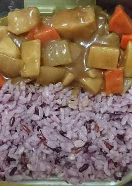 洋蔥咖哩十穀飯