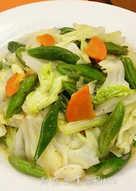 蒜炒扁豆高麗菜