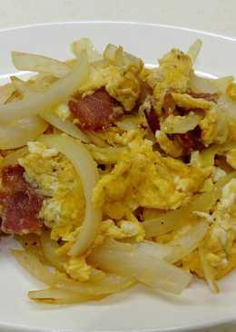 培根洋蔥炒蛋