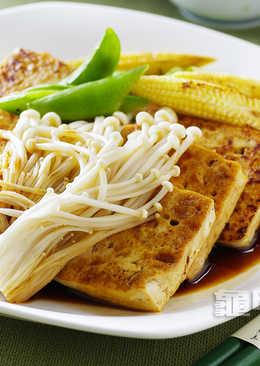 【蔬香滿庭】珍菇煎豆腐