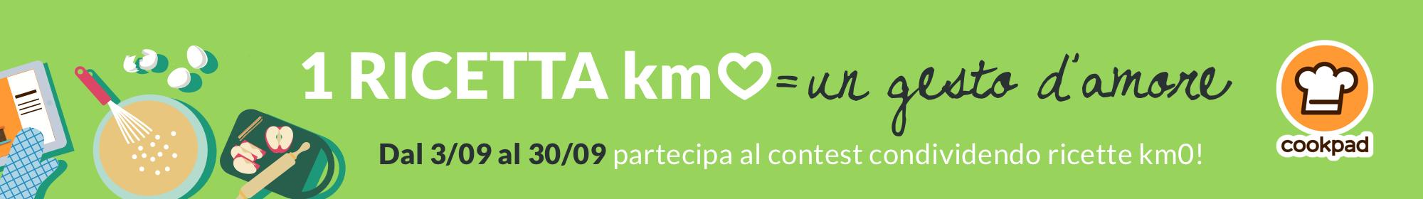1 ricetta Km0 = un gesto d'amore
