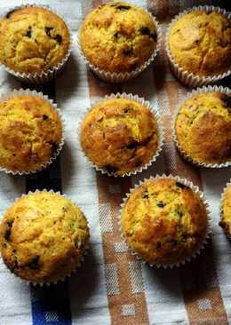 Muffin senza glutine alle carote e gocce di cioccolato