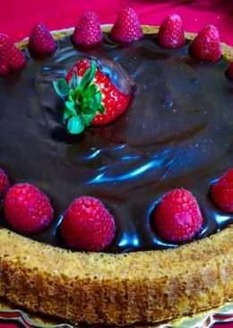 Crostata morbida senza glutine con ganache al cioccolato