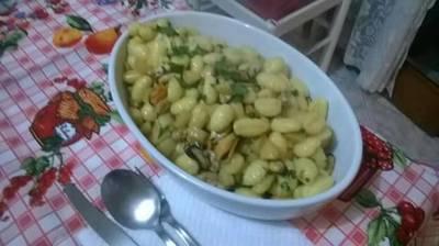 Gnocchi con zucchine e cozze
