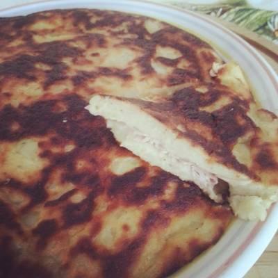 Schiacciata di patate e prosciutto