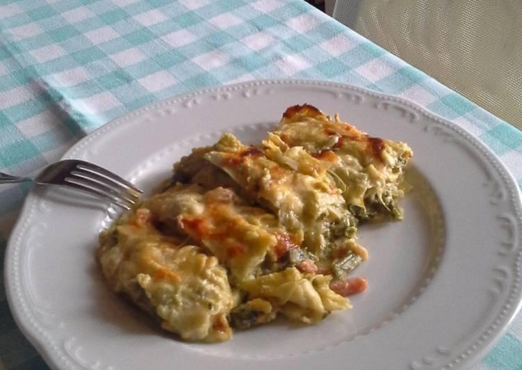 Cannelloni con radicchio, speck e scamorza affumicata