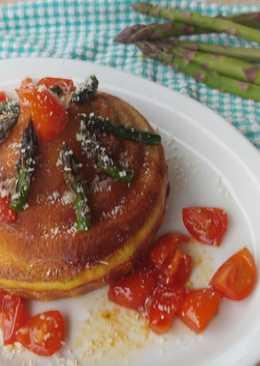 Super muffin agli asparagi con pomodori caramellati