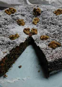 Torta di noci e cioccolato fondente 😋