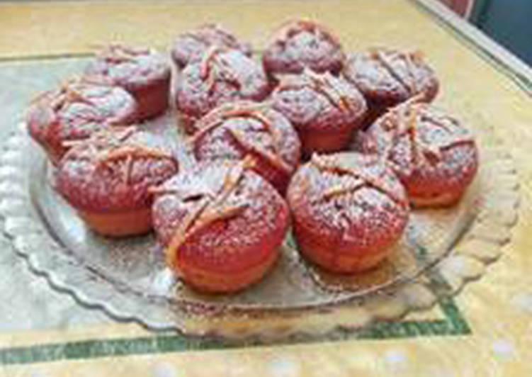 Muffin alla zucca con arance caramellate