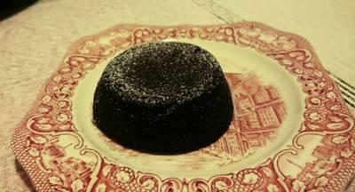 Tortino al cioccolato fondente con cuore cremoso