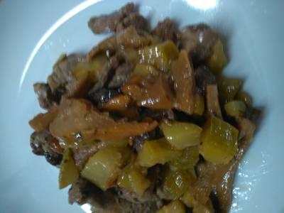 Filetto di maiale con funghi zucchine e speck 😉