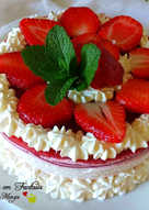 Cheesecake semplice alle fragole