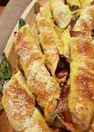 Eliche di sfoglia con asparagi spek e parmigiano