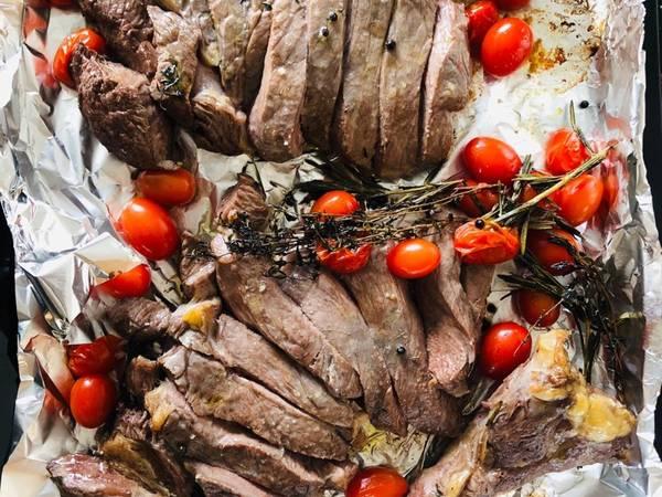 Tagliata al Forno con pomodorini