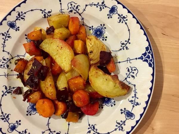 Infornata di verdure autunnali al curry