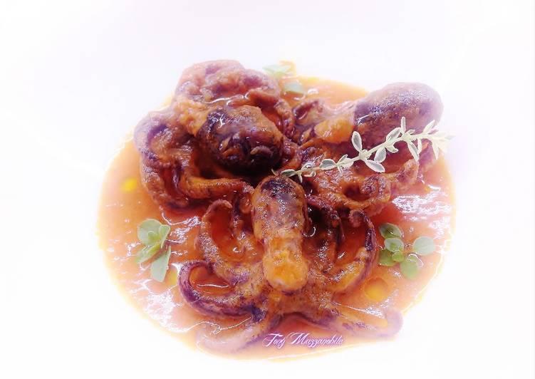 Moscardini in salsa piccante