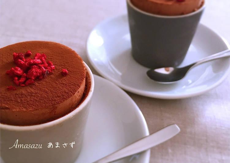 Semifreddo al cioccolato in tazza di San Valentino