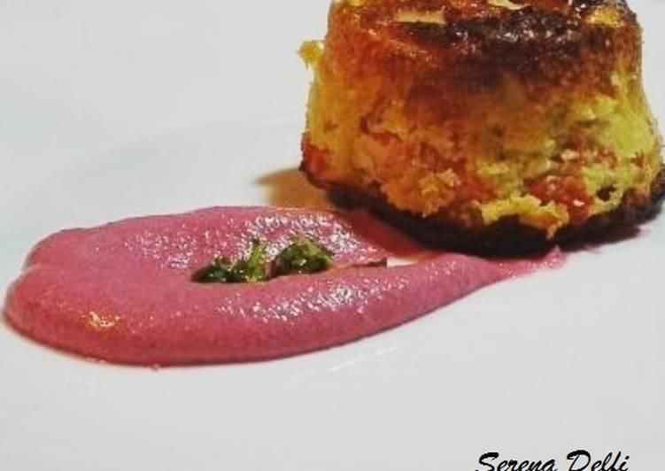 Flan di pesce con maionese vegana