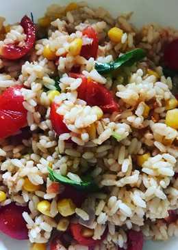 Insalata di riso tonno mais e pomodorini  #insalata #saladmania #cookpaditalia #contest