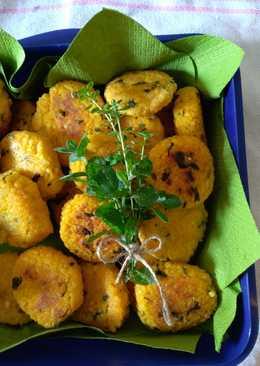 Crocchette di miglio veg con erbette fresche per il picnic