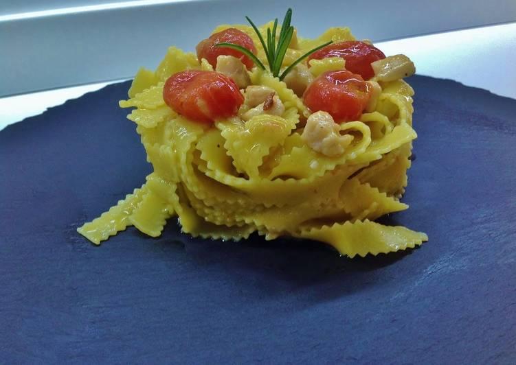 Ricetta Frastagliate Alluovo Con Pescespada Crema Di Melanzane E