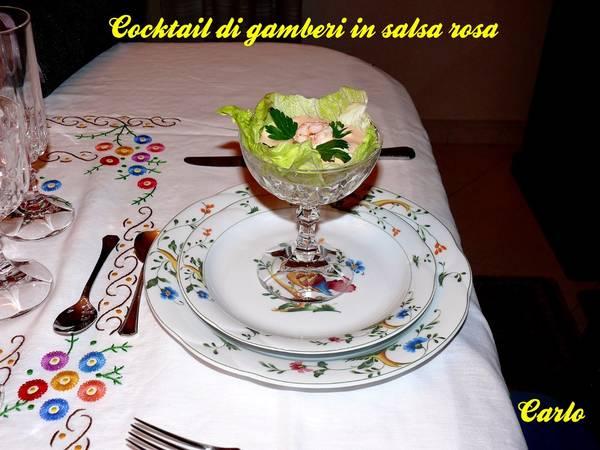 Cocktail di gamberi in salsa rosa