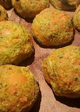 Polpette di carote e broccolo, senza latticini e gluten free