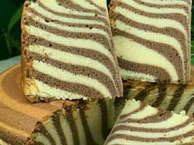 کیک زبرا بدون فر