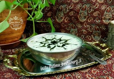 آش دوغ (بدون آرد و تخم مرغ)
