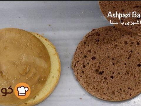 مراحل دستور آموزش پایه ای و اصولی خامه کشی اولیه کیک برای انواع تزیینات روی کیک عکس 2
