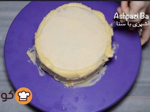 مراحل دستور آموزش پایه ای و اصولی خامه کشی اولیه کیک برای انواع تزیینات روی کیک عکس 16