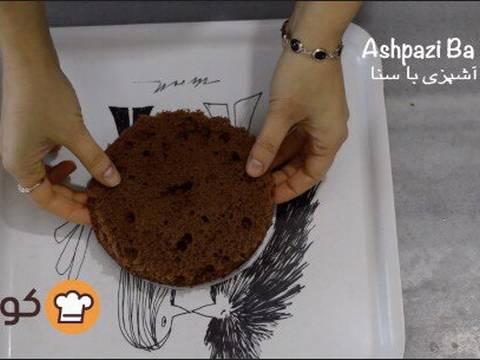 مراحل دستور آموزش پایه ای و اصولی خامه کشی اولیه کیک برای انواع تزیینات روی کیک عکس 7
