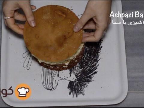 مراحل دستور آموزش پایه ای و اصولی خامه کشی اولیه کیک برای انواع تزیینات روی کیک عکس 11