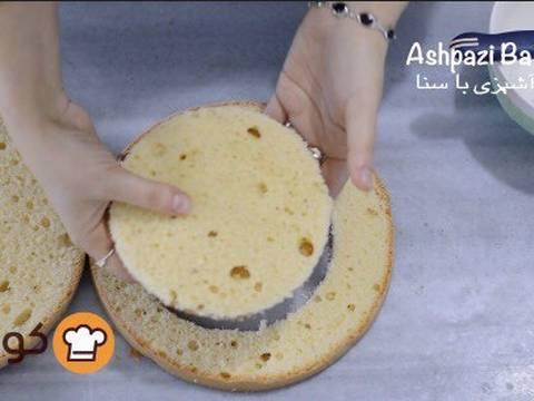 مراحل دستور آموزش پایه ای و اصولی خامه کشی اولیه کیک برای انواع تزیینات روی کیک عکس 4