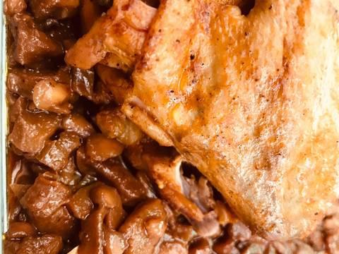 مراحل دستور مواد مرغ شکم پر شیرازی عکس 2