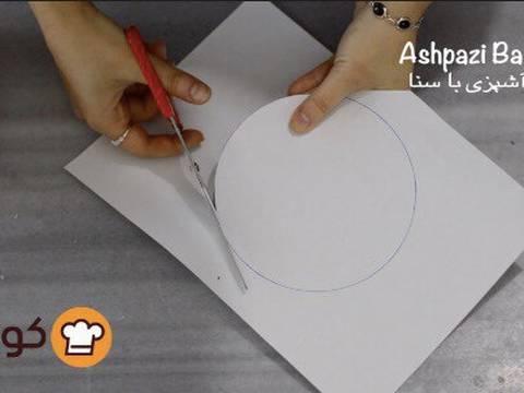مراحل دستور آموزش پایه ای و اصولی خامه کشی اولیه کیک برای انواع تزیینات روی کیک عکس 5