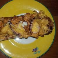 BBQ csirkés melegszendvics