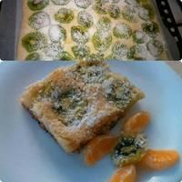 Egyszerű kivis kevert süti