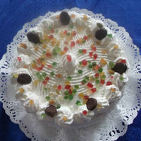 Málnás tejszínes oroszkrém torta