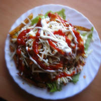 """Sajtburger"" saláta"